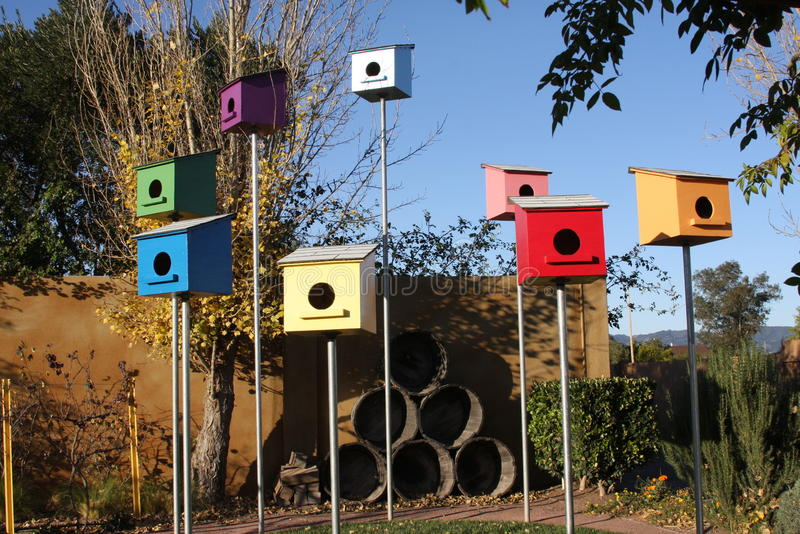 birdhouses arkivfoton