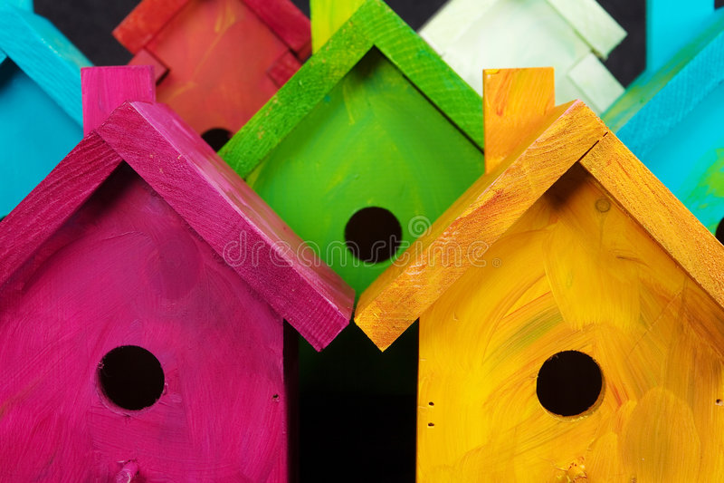 Birdhouses imagens de stock royalty free