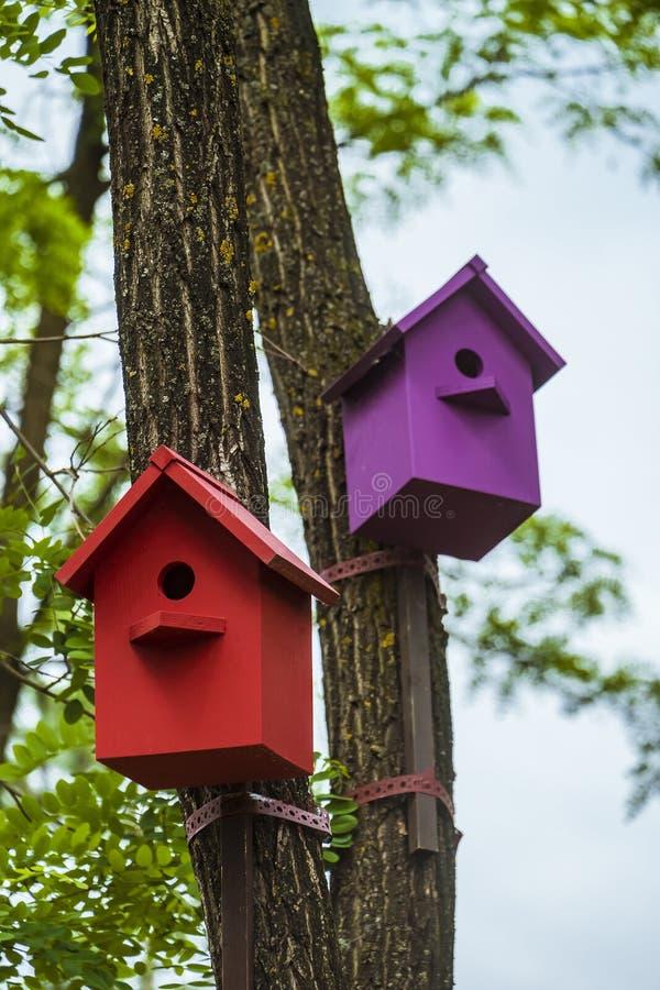 birdhouses stock afbeelding