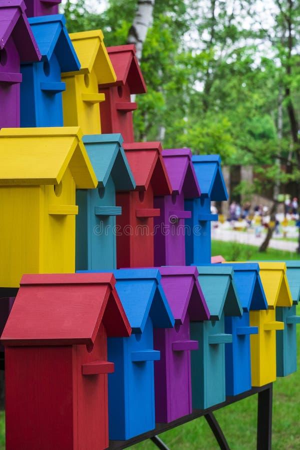 birdhouses royalty-vrije stock afbeeldingen