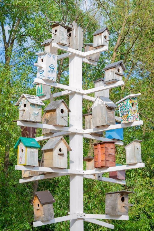birdhouses stock afbeeldingen