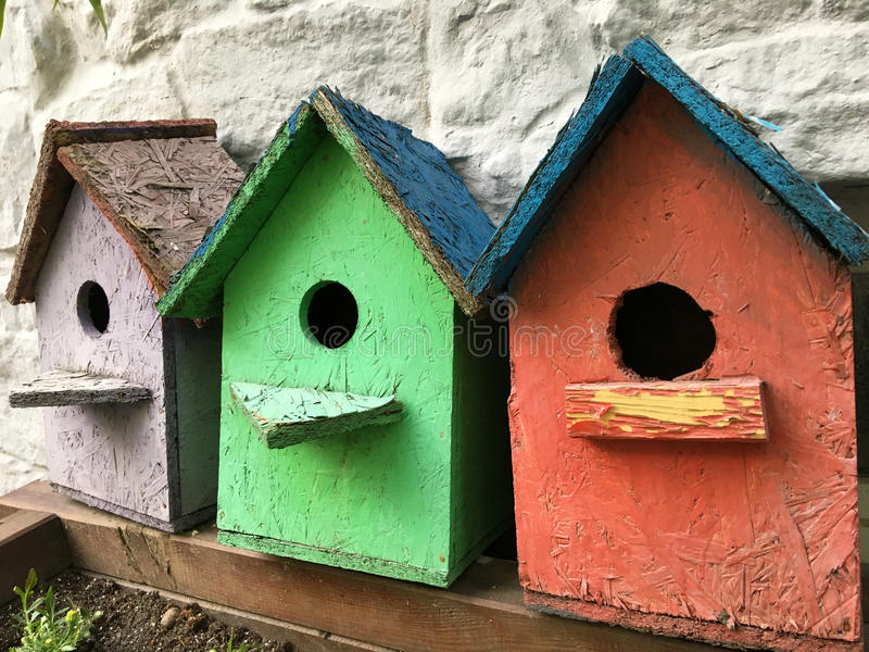 Birdhouses stock photography