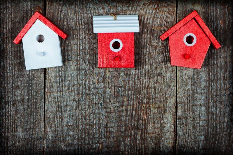Birdhouses stock image