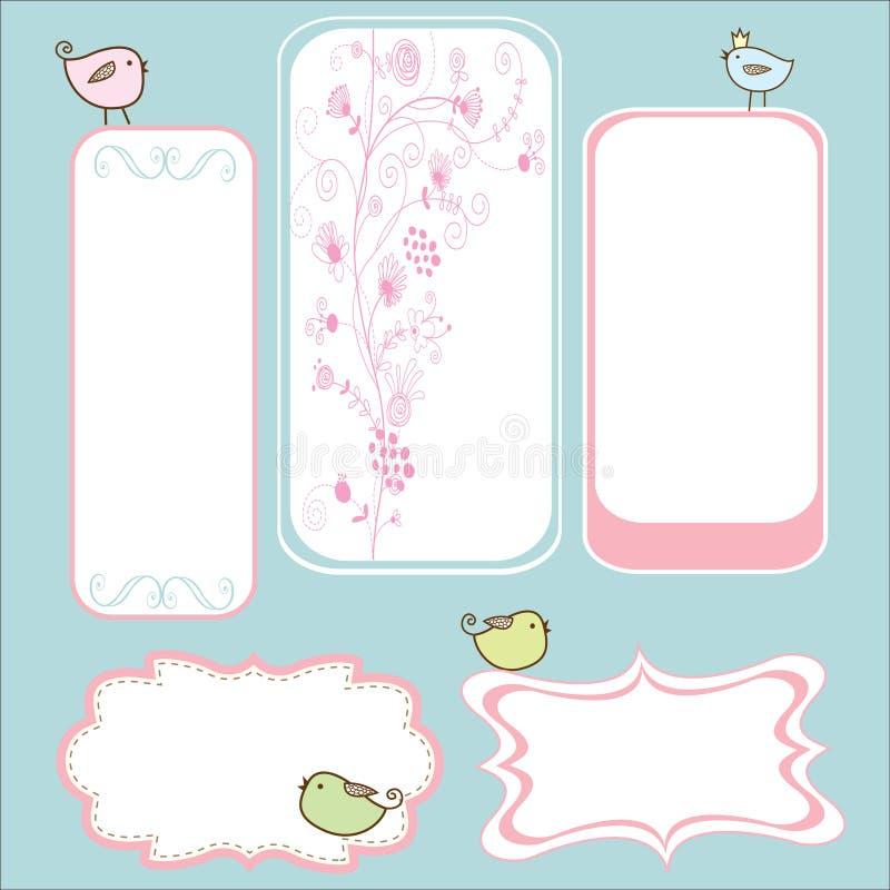 Download Birdie frame stock vector. Image of floral, pink, flower - 17606244