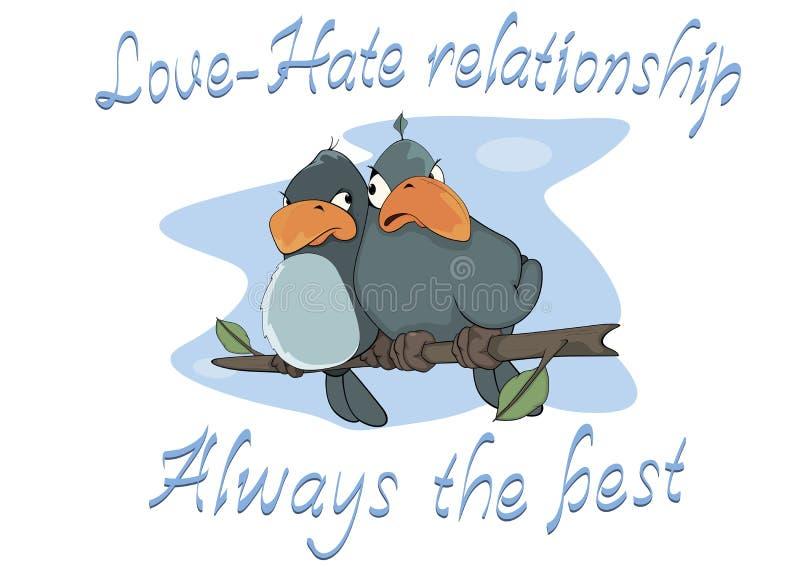 birdies postcard cartoon ilustração royalty free