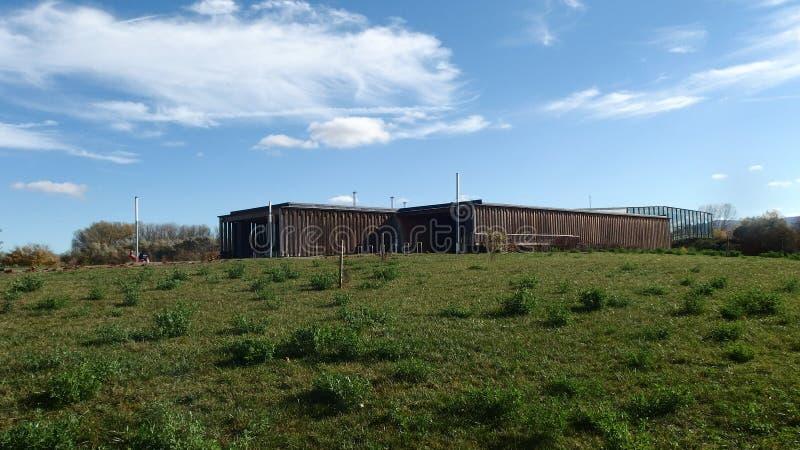 Birding-Observatorium-Gebäude-Naturpark lizenzfreies stockbild