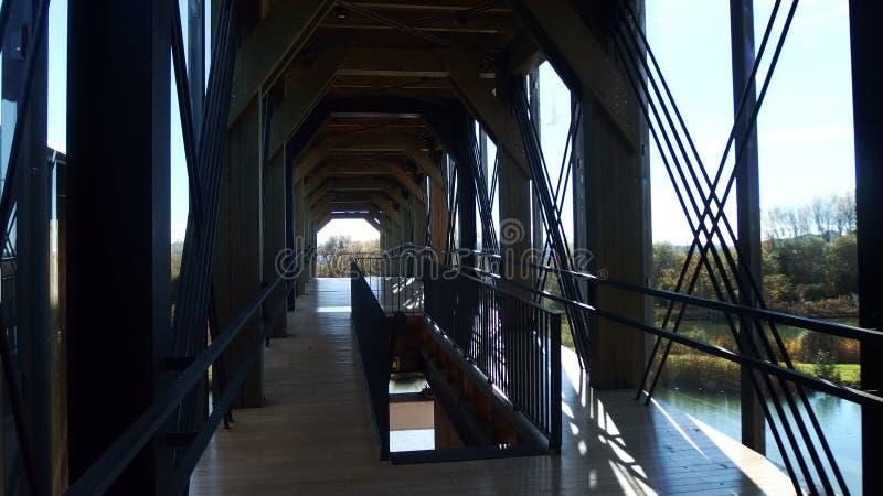 Birding-Observatorium-Struktur-Naturpark stockbild