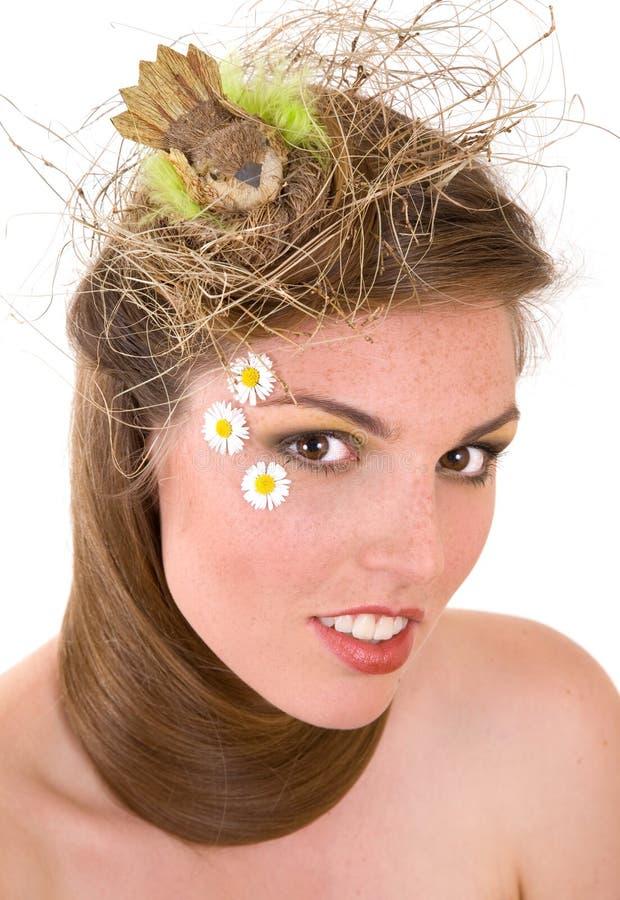 Birdlady van de lente royalty-vrije stock foto