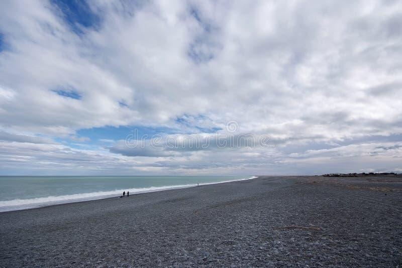 New Zealand South Island Shingle Beach