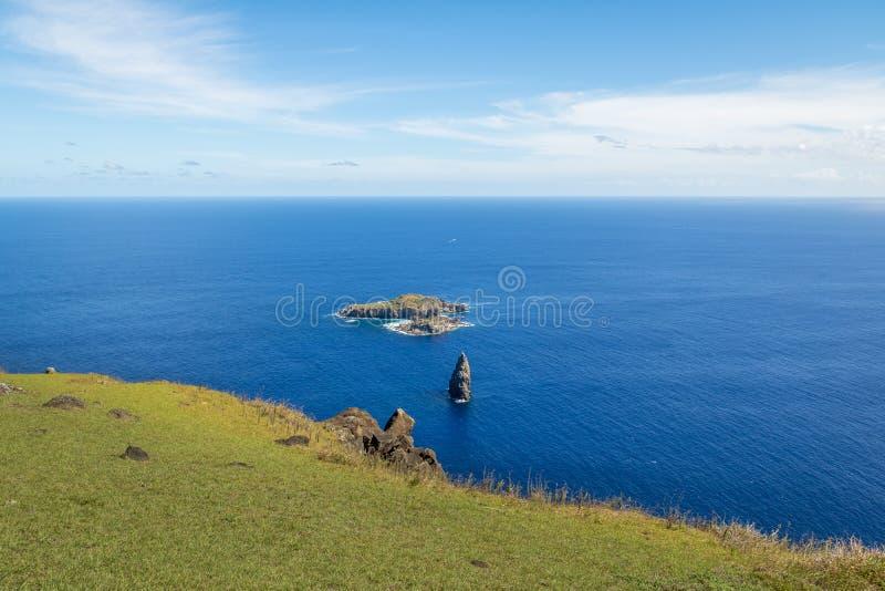 The Birdman Island near Orongo Ruins - Easter Island, Chile. The Birdman Island near Orongo Ruins in Easter Island, Chile royalty free stock image