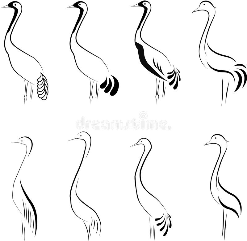 Download Birds. stock vector. Illustration of outline, abstract - 19331687