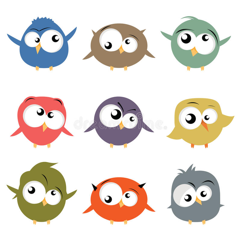 Download Birds stock vector. Illustration of cute, collection - 19383246