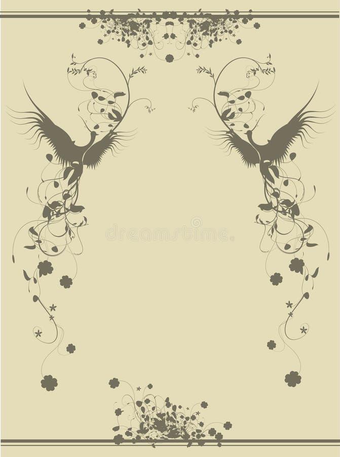Download Birds stock vector. Illustration of round, bloom, romantic - 19704087