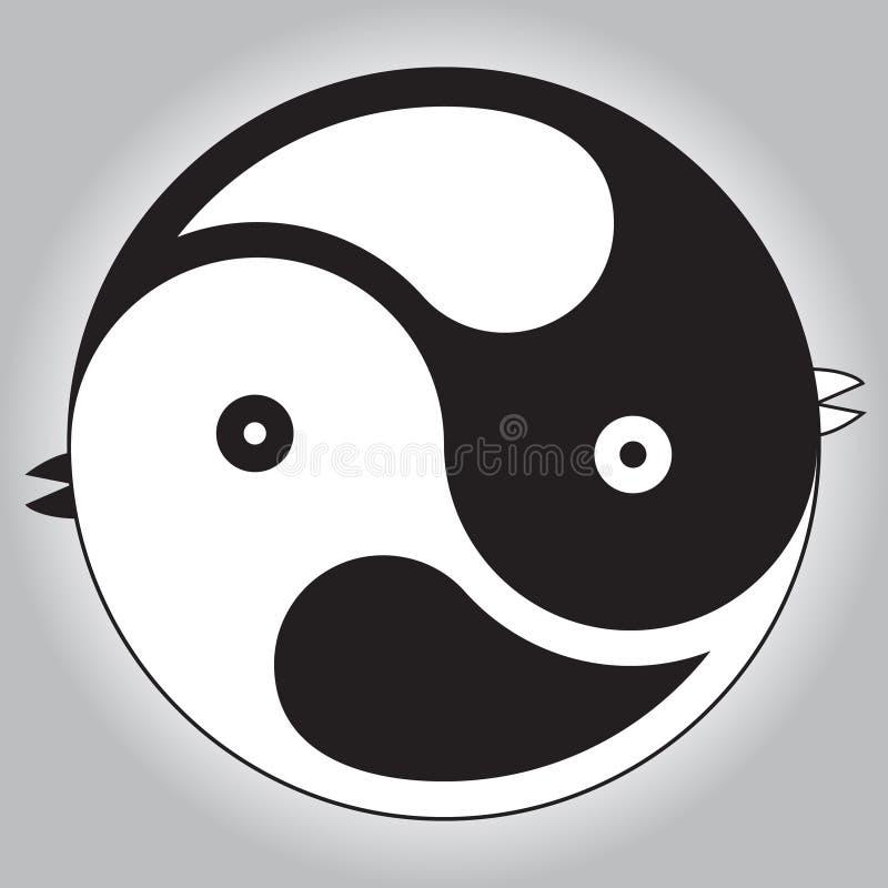 Free Birds. Asian Symbol Of Harmony. Royalty Free Stock Images - 50758069