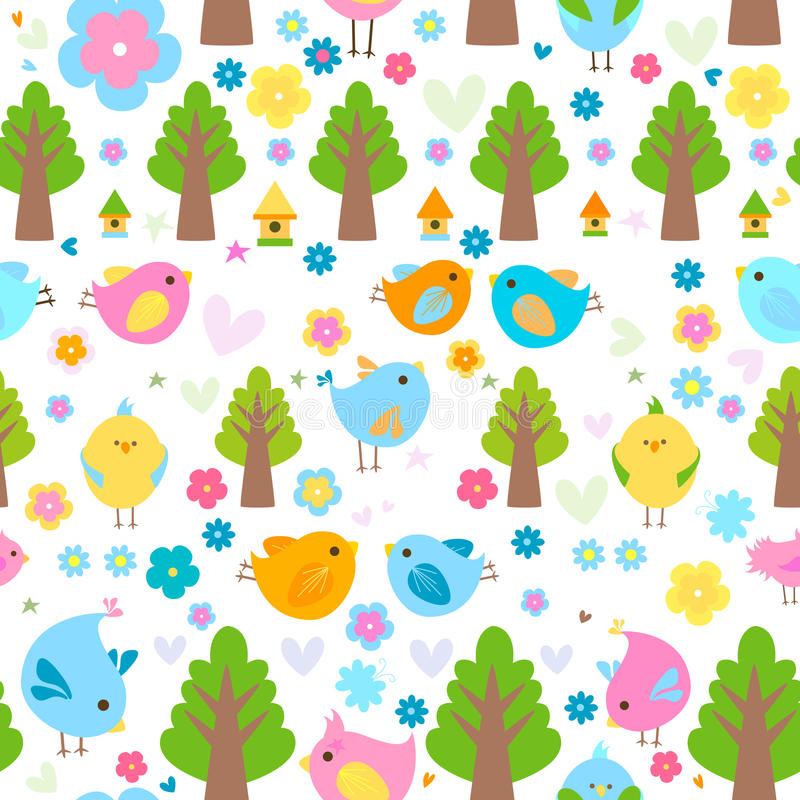 Download Birds background stock vector. Image of tree, ornate - 23761787