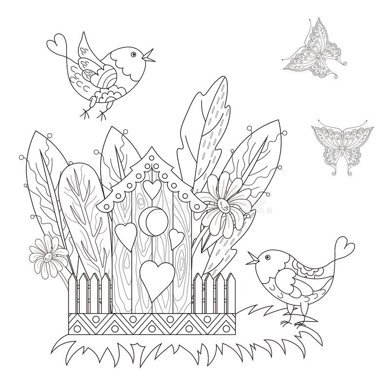 Birdhouse Coloring Stock Illustrations 116 Birdhouse Coloring Stock Illustrations Vectors Clipart Dreamstime