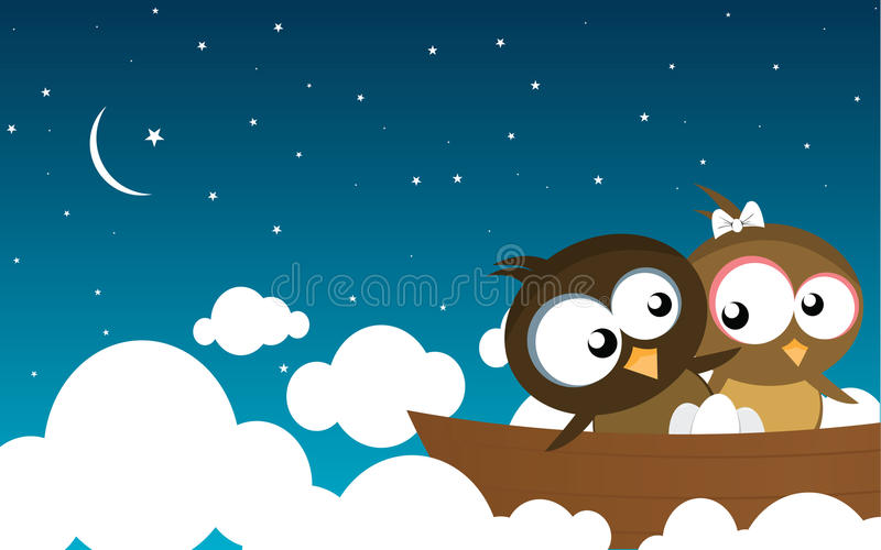 Birds on a Boat stock photography