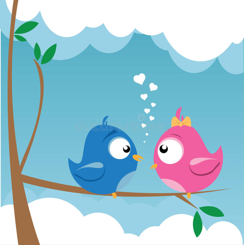 Download Birds On A Branch Stock Images - Image: 19070544