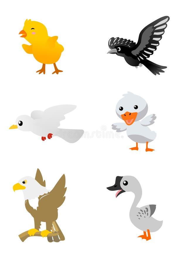 Free Birds Cartoon Set 1 Stock Photos - 12173803