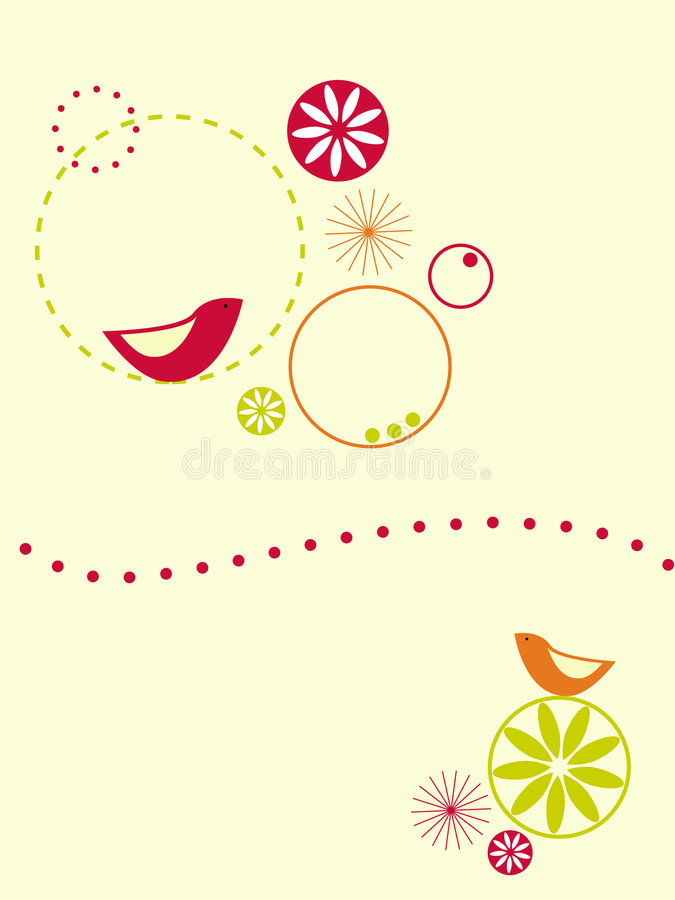Download Birds and circles stock vector. Image of happy, bright - 7184147