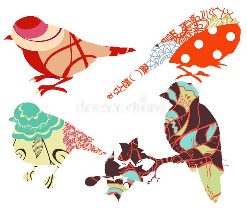 Birds collection royalty free illustration