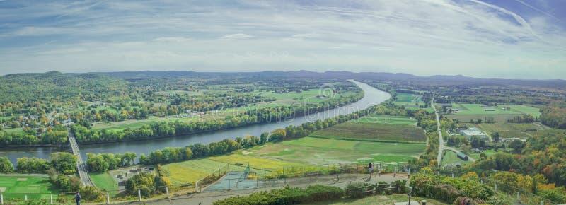 Birds eye panoramic view of countryside of Sunderland. royalty free stock photo