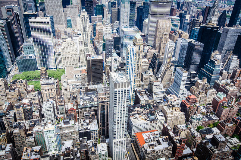 Birds eye view of New York royalty free stock photo