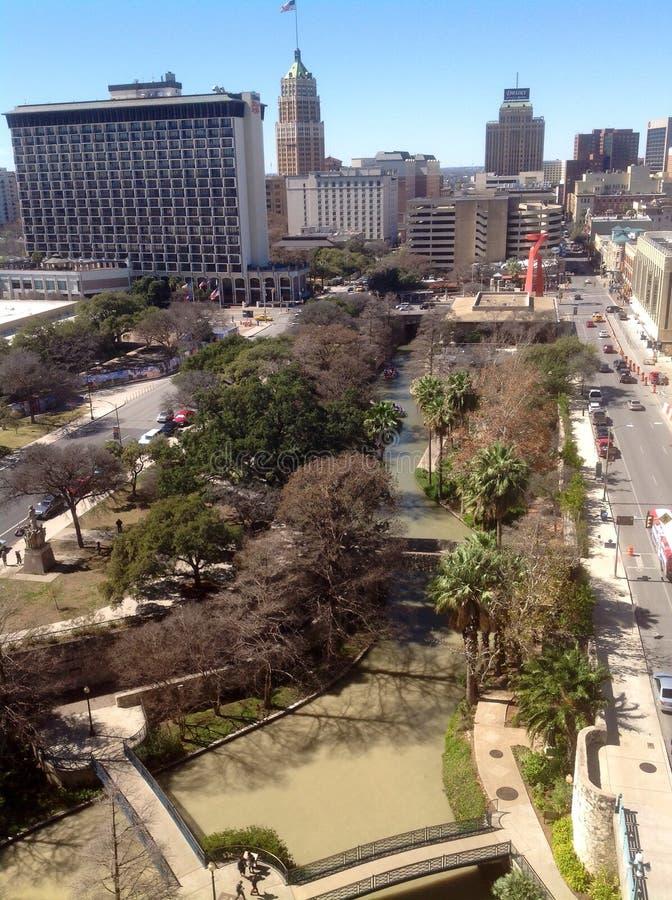 Birds eye view in San Antonio stock photography