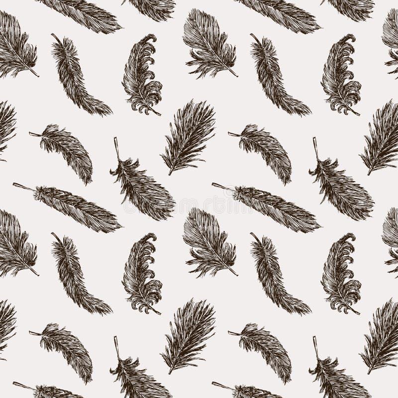 Birds feathers pattern stock illustration