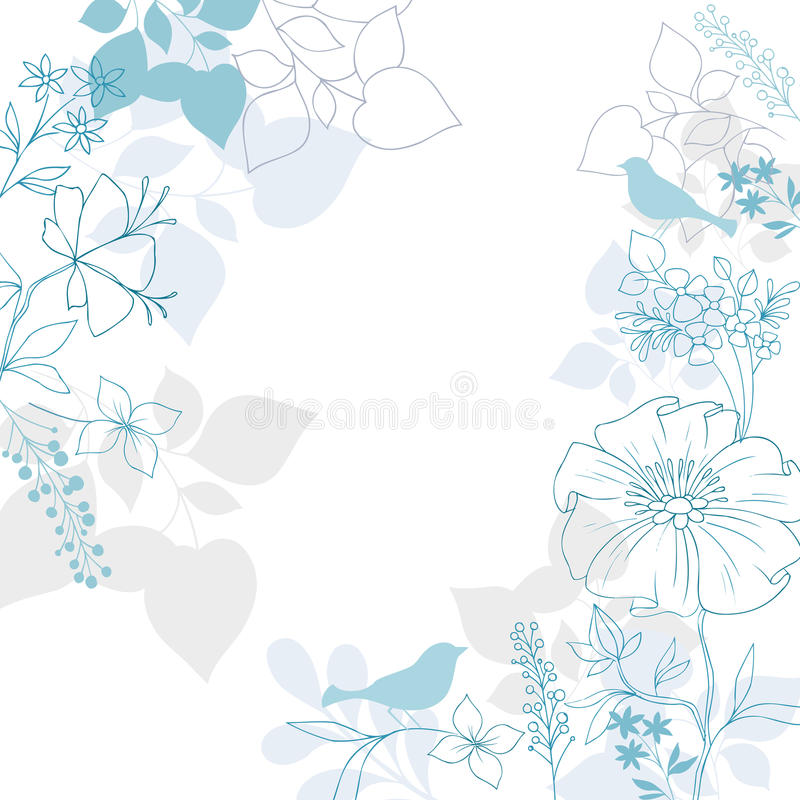 Free Birds Floral Background Vector Design Royalty Free Stock Image - 22905526