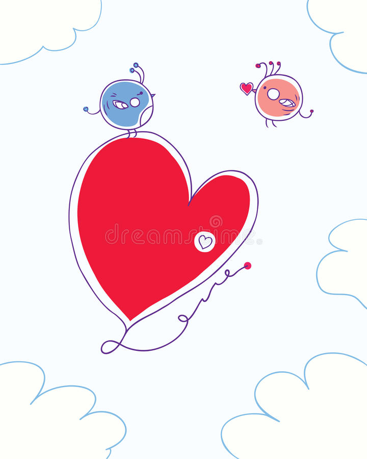 Download Birds And Heart Royalty Free Stock Images - Image: 36353369