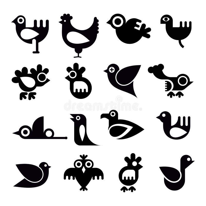 Birds Icon Set Royalty Free Stock Images