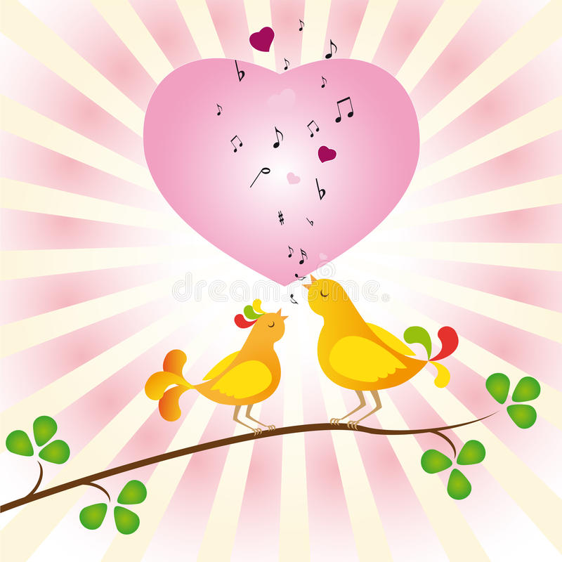 Download Birds in love stock illustration. Image of birds, holiday - 17275455