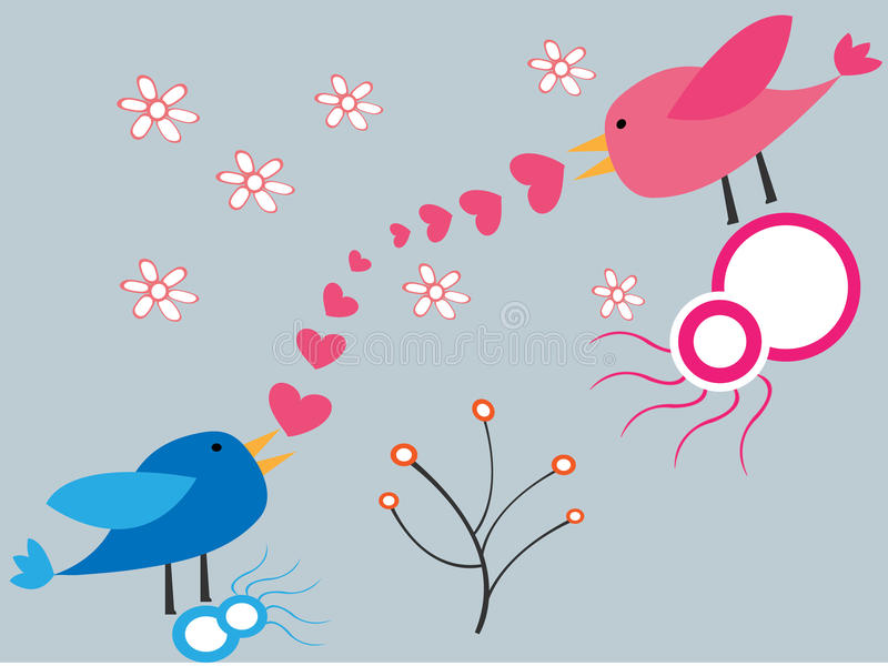Download Birds in love stock vector. Illustration of elements - 18261753