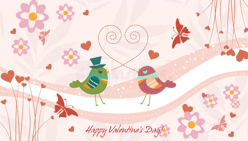 Download Birds in love stock vector. Image of illustration, colorful - 23243021