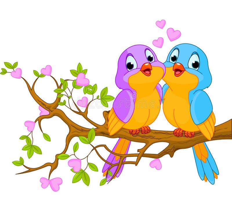 Birds in Love vector illustration
