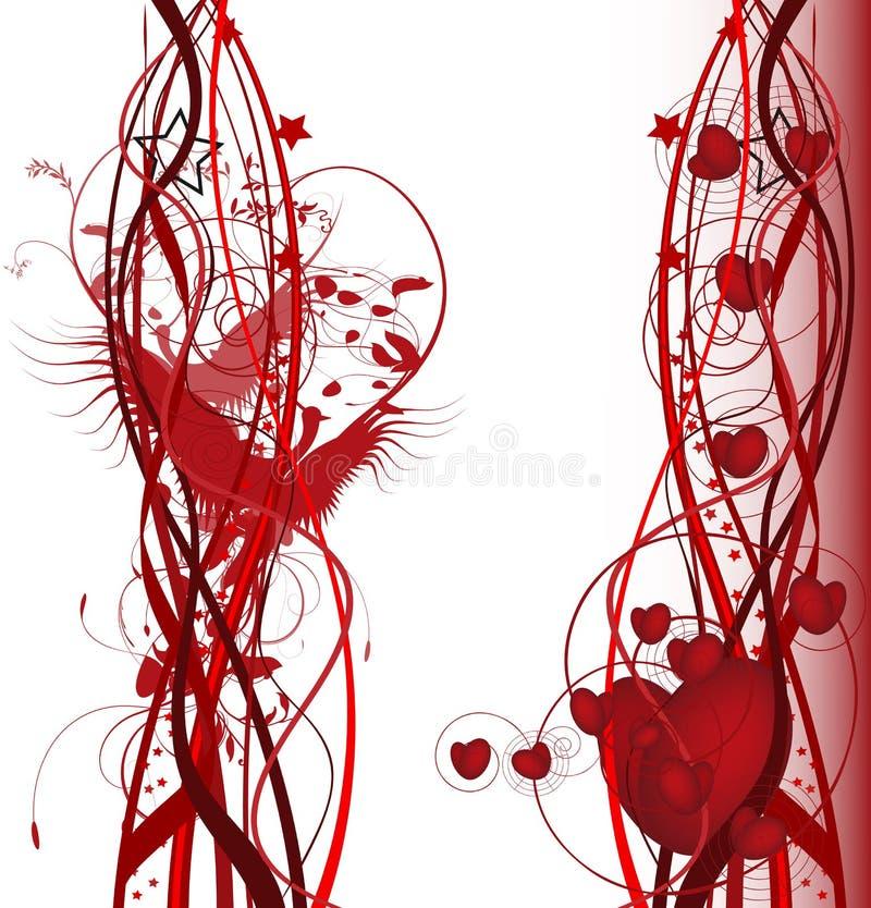 Birds in love stock illustration