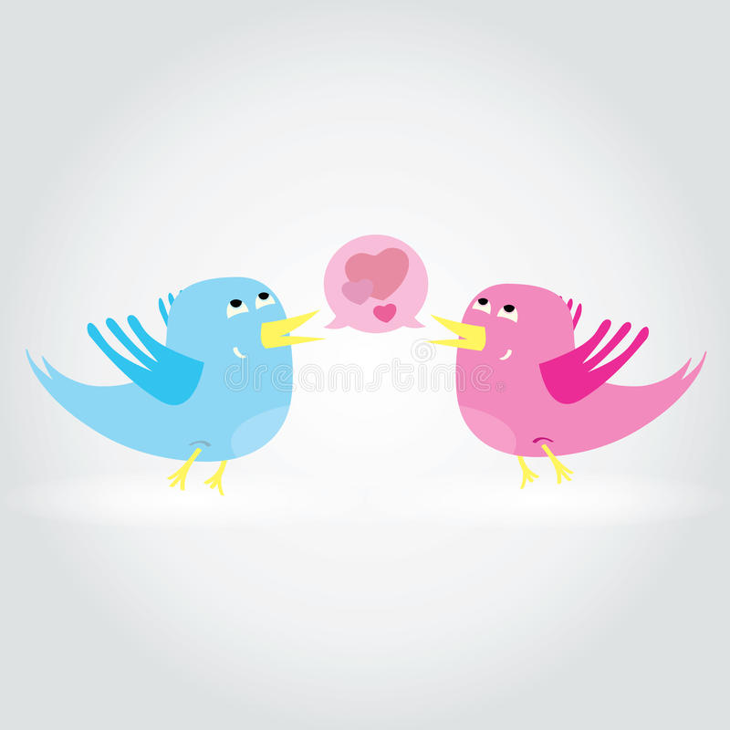 Download Birds Love Each Other. A Vector Illustration Stock Vector - Illustration of bird, interaction: 29183065