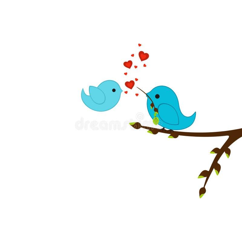 Birds of lovers royalty free illustration