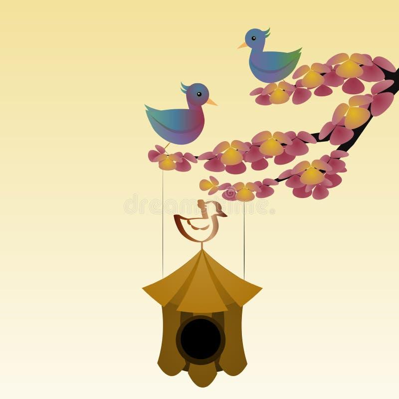 Birds nest stock photo