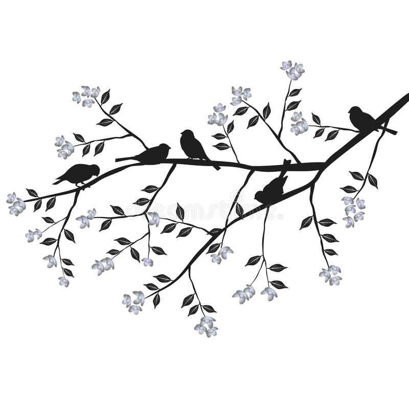 Free Birds On The Branch During The Summer Day Royalty Free Stock Photos - 54754668