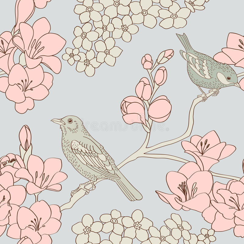 Birds pattern vector illustration