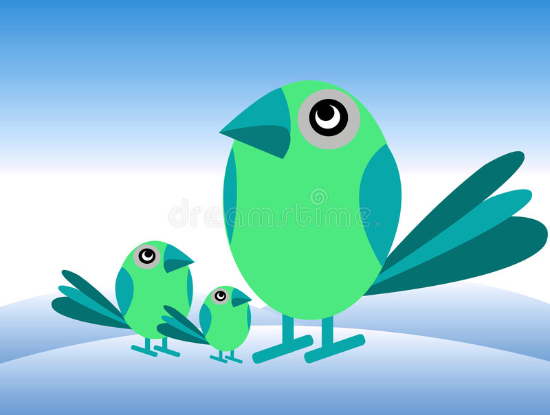 Birds's brother vector illustration