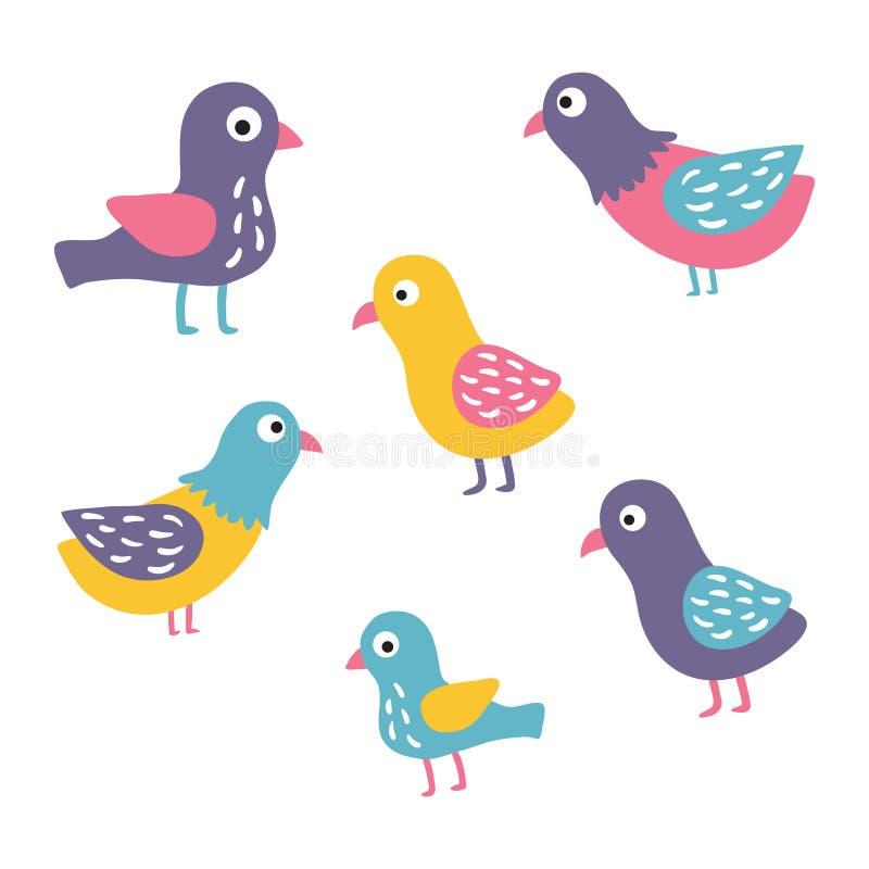 Birds set vector illustration