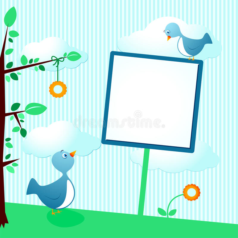 Download Birds and sign stock vector. Image of flower, decorative - 20640164