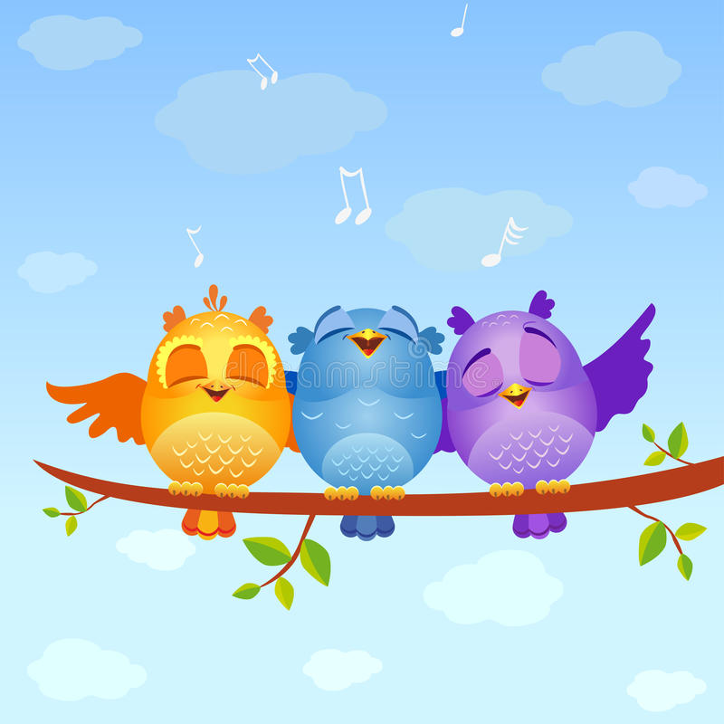 Download Birds Sing Stock Photo - Image: 33313820