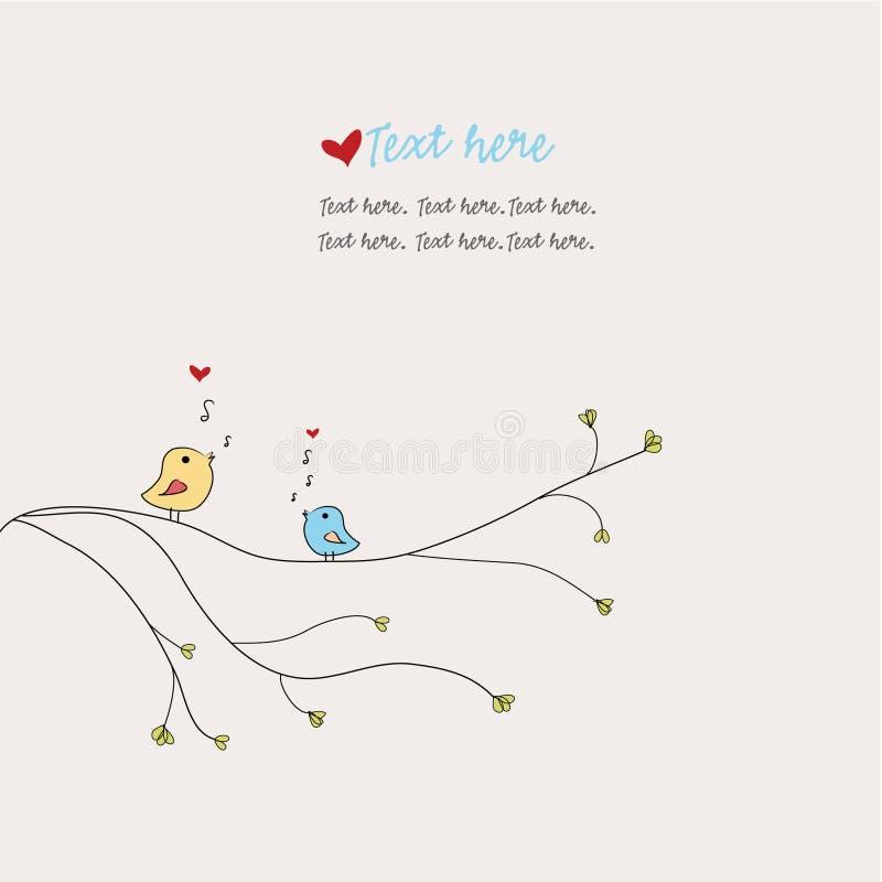 Birds singing love songs vector illustration