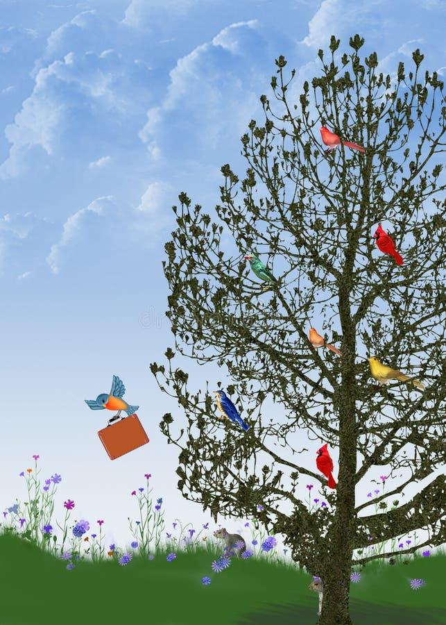 Download Birds in tree stock illustration. Illustration of humorous - 34639146