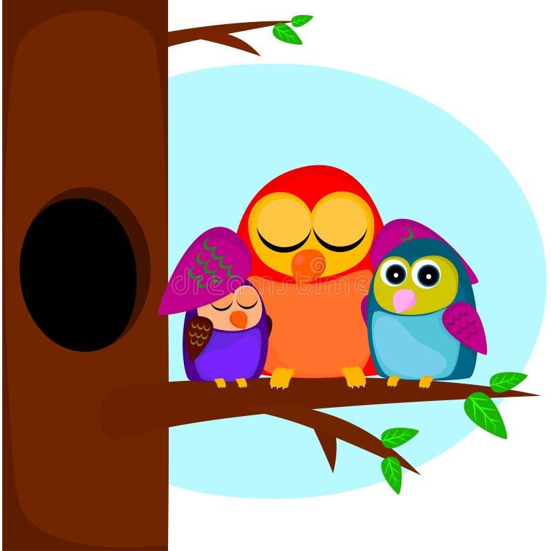 Download Birds on the tree stock vector. Illustration of nestling - 33443428
