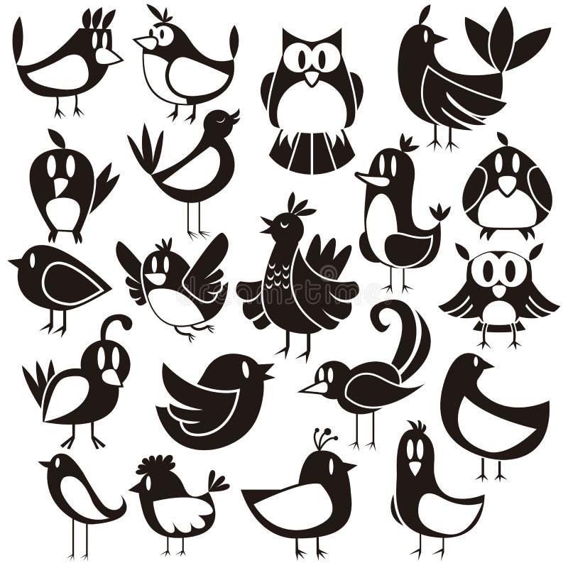 Birds Vector Set vector illustration